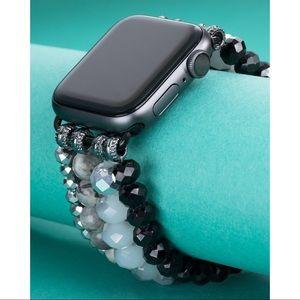 Beaded Stretch Apple Watch Band -Crazy Jasper